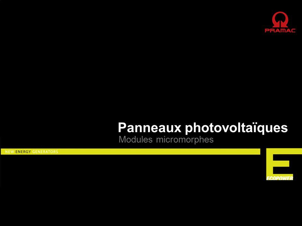 Panneaux photovoltaïques Siège à Riazzino dans le Canton du Tessin, Suisse Capacité de Production : 250.000 modules/an, 30 MW/an Production 24/24 - 7/7 Surface totale : 30.000 m 2 Surface couverte: 16.000 m 2 Pramac Swiss SA