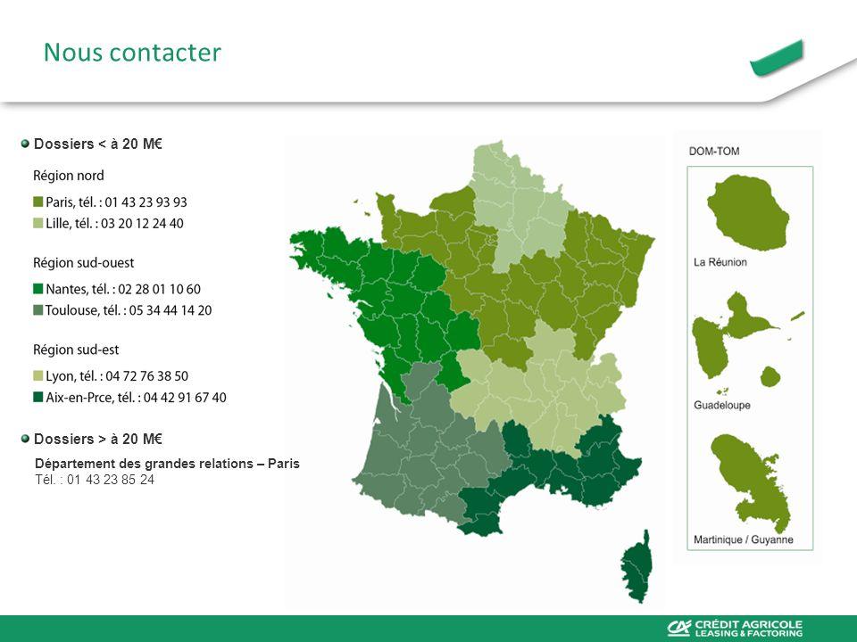 Dossiers > à 20 M Département des grandes relations – Paris Tél. : 01 43 23 85 24 Nous contacter Dossiers < à 20 M