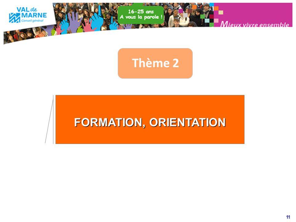 11 Thème 2 FORMATION, ORIENTATION
