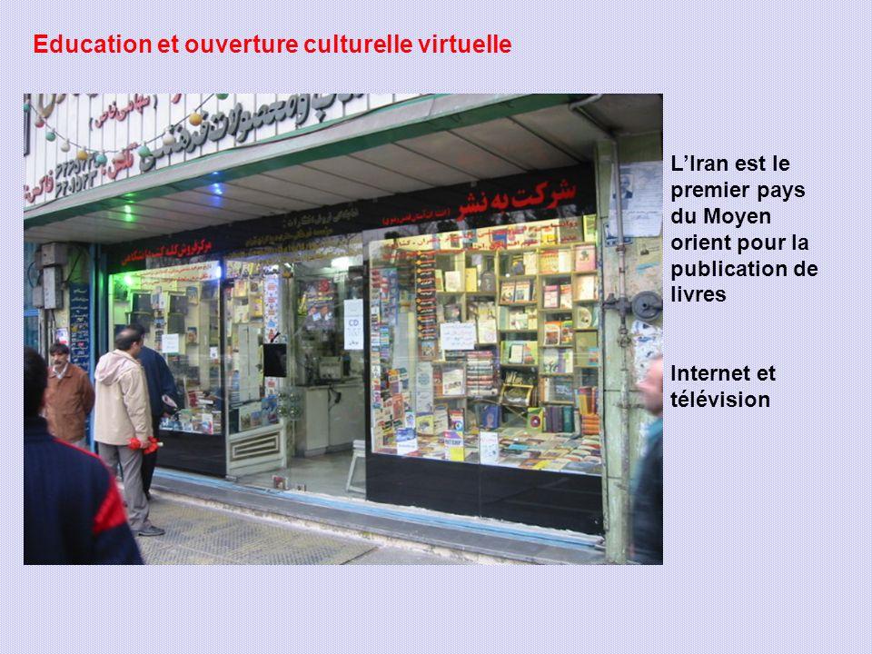 Education et ouverture culturelle virtuelle LIran est le premier pays du Moyen orient pour la publication de livres Internet et télévision