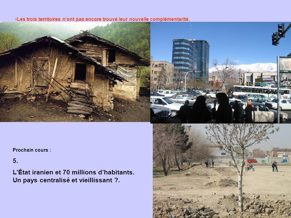 Les trois territoires nont pas encore trouvé leur nouvelle complémentarité. Prochain cours : 5. LÉtat iranien et 70 millions dhabitants. Un pays centr