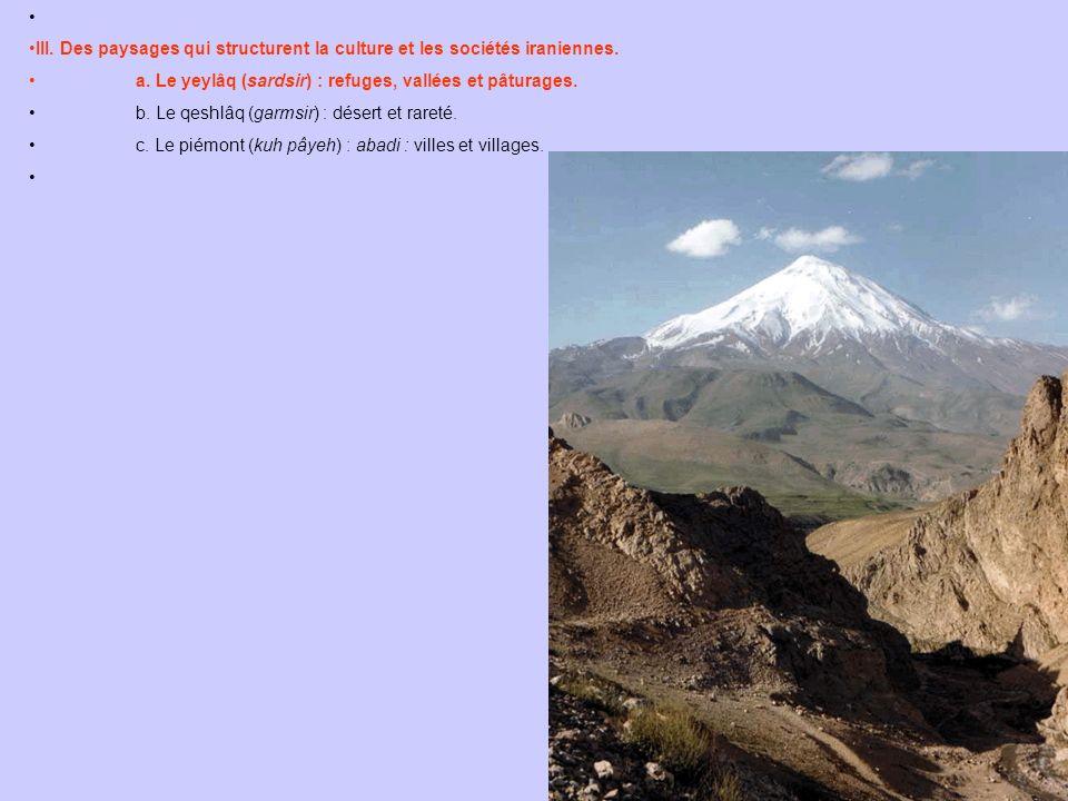 III. Des paysages qui structurent la culture et les sociétés iraniennes.