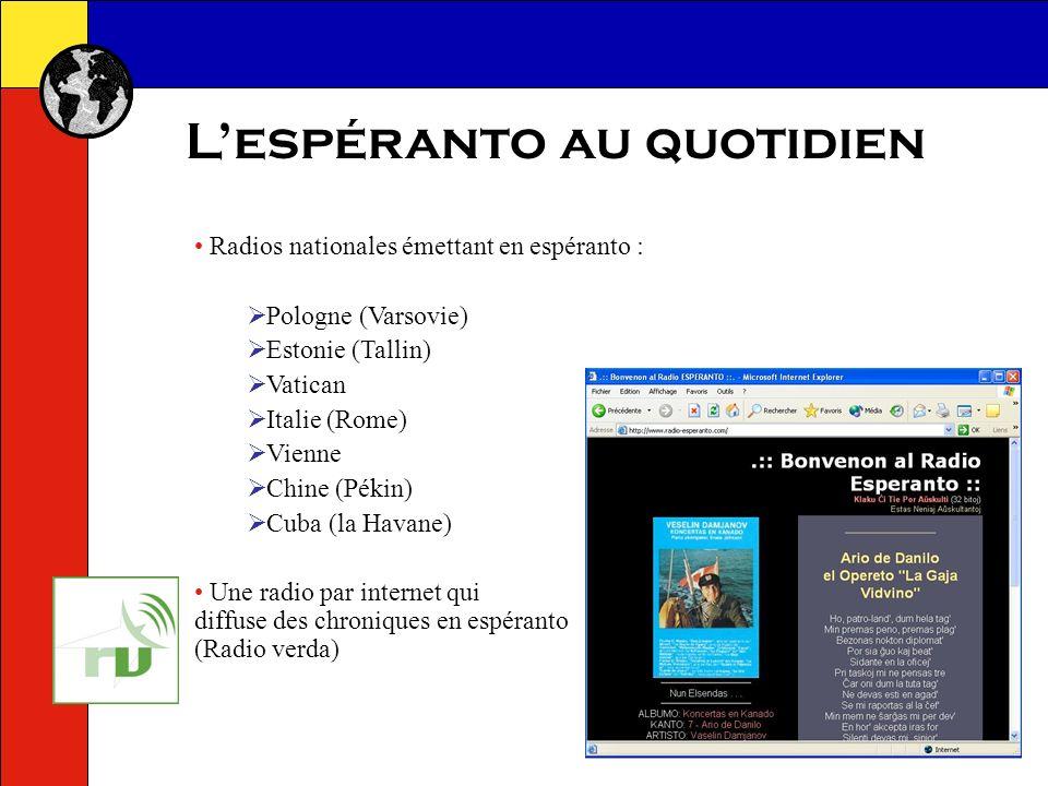 Lespéranto au quotidien Revues et magazines en espéranto : quelques exemples