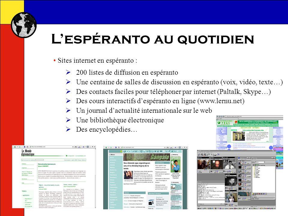 Lespéranto au quotidien Wikipedia : une encyclopédie en ligne avec plus de 50 000 articles !