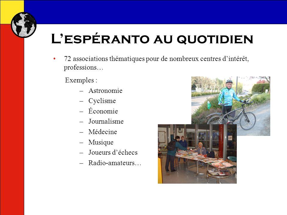 Lespéranto au quotidien Services de mise en relation et de recherche de correspondants