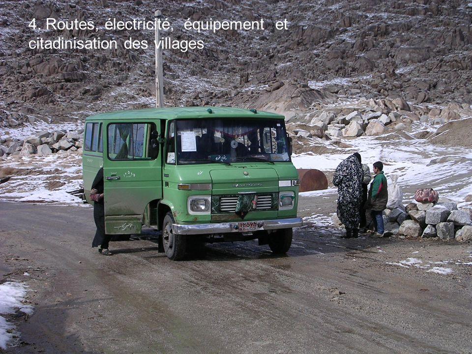 4. Routes, électricité, équipement et citadinisation des villages