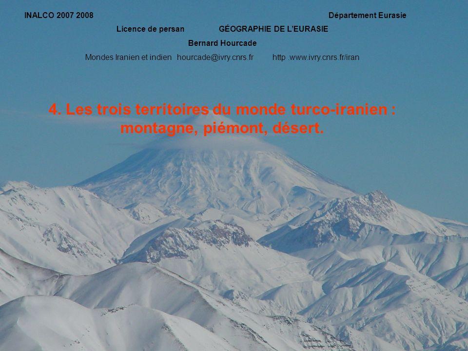 INALCO 2007 2008 Département Eurasie Licence de persan GÉOGRAPHIE DE LEURASIE Bernard Hourcade Mondes Iranien et indien hourcade@ivry.cnrs.frhttp.www.