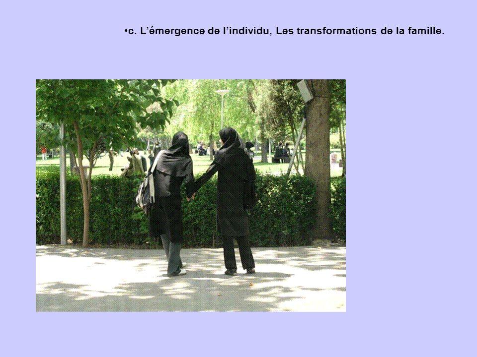 c. Lémergence de lindividu, Les transformations de la famille.