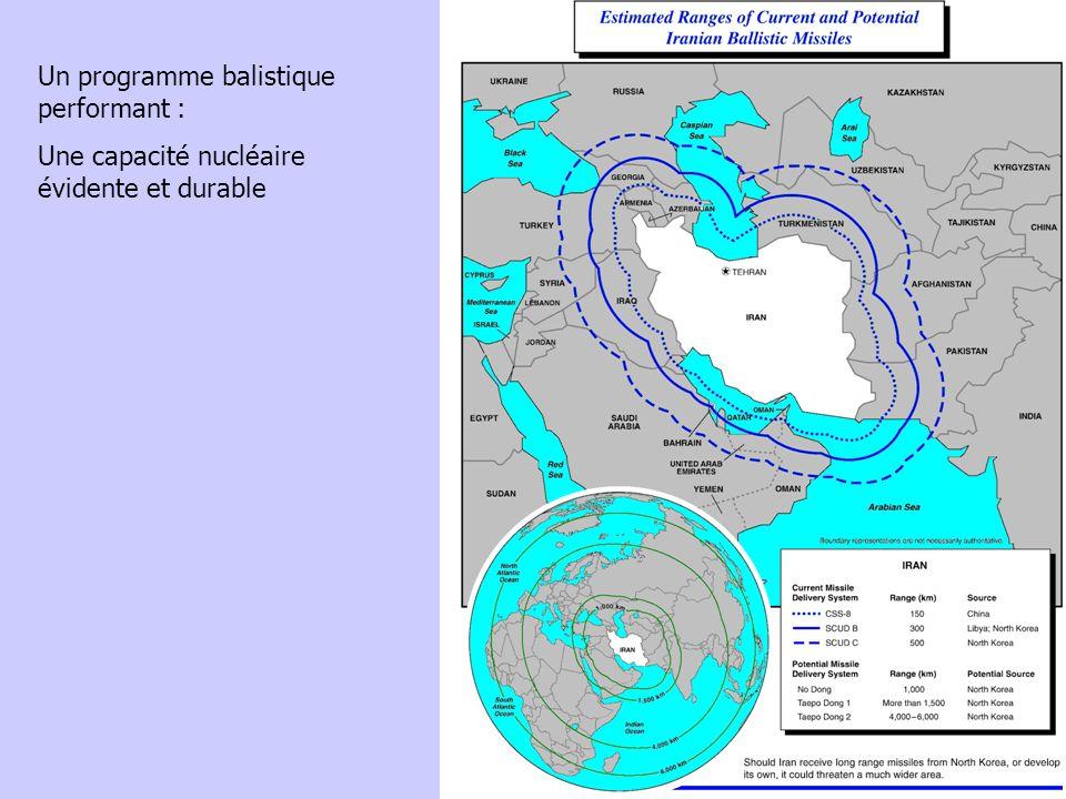 Un programme balistique performant : Une capacité nucléaire évidente et durable
