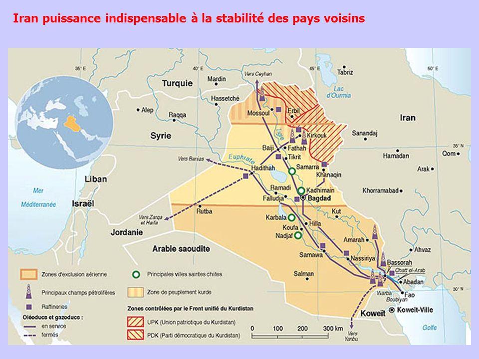 Iran puissance indispensable à la stabilité des pays voisins