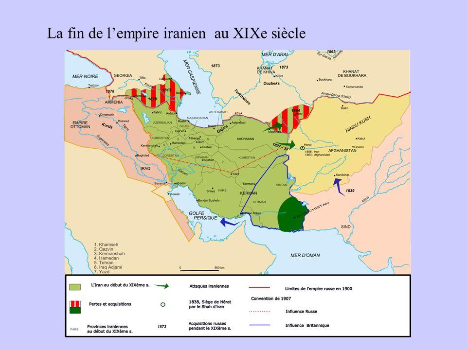 La fin de lempire iranien au XIXe siècle