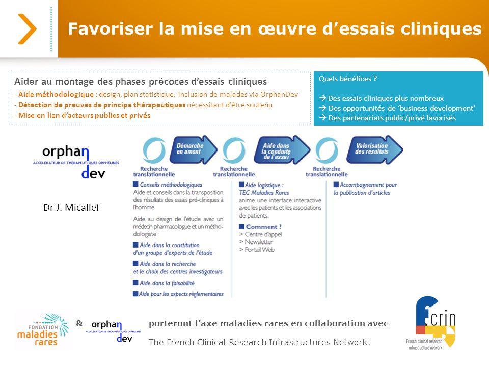 Favoriser la mise en œuvre dessais cliniques Aider au montage des phases précoces dessais cliniques - Aide méthodologique : design, plan statistique,