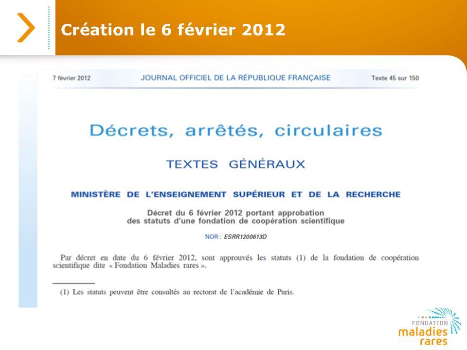 Création le 6 février 2012