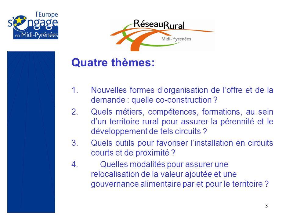 3 Quatre thèmes: 1.Nouvelles formes dorganisation de loffre et de la demande : quelle co-construction ? 2.Quels métiers, compétences, formations, au s