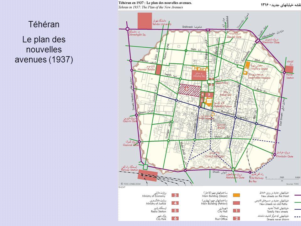 Téhéran Le plan des nouvelles avenues (1937)
