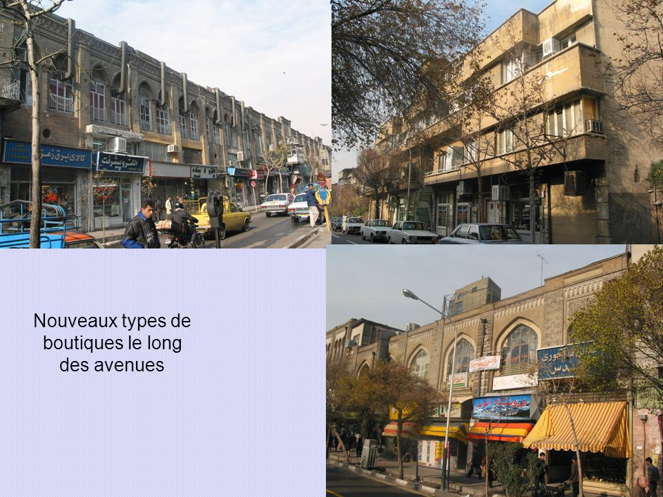 Nouveaux types de boutiques le long des avenues