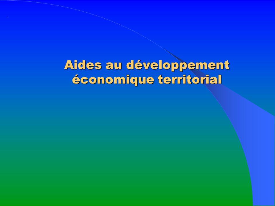 Aides au développement économique territorial ·
