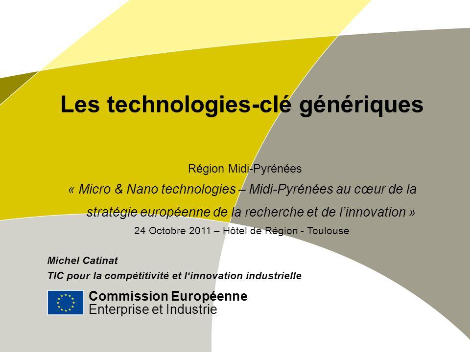 Commission Européenne Enterprise et Industrie | # Contact Commission européenne DG Enterprise et Industrie Unité D3: TIC pour la compétitivité et l innovation industrielle B-1049 Bruxelles E-mail: entr-kets-open-days@ec.europa.euentr-kets-open-days@ec.europa.eu HLG website: http://ec.europa.eu/enterprise/hlg_kets.htm