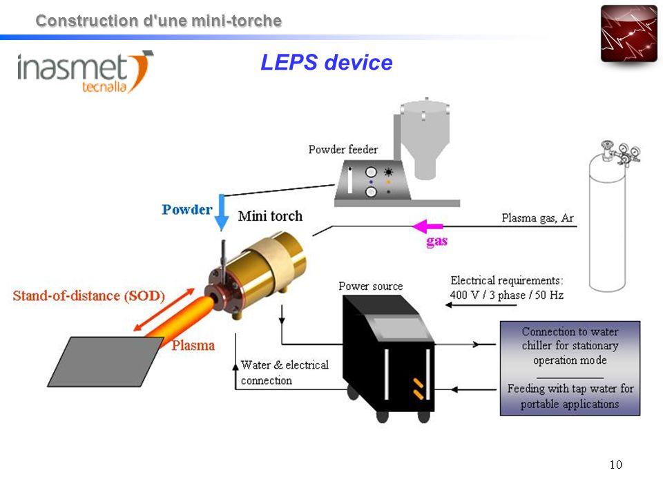 10 LEPS device Construction d'une mini-torche