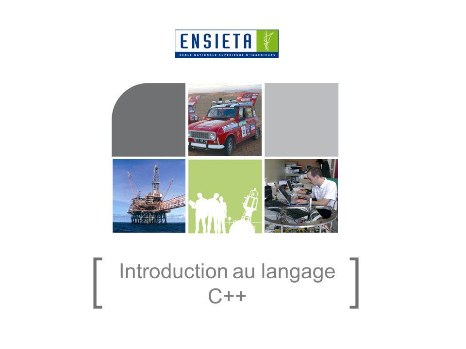 Introduction au langage C++ 11/01/201422 Le C est inclus (à 99%) dans le C++ : quand on fait du C, on fait aussi du C++ mais linverse nest pas forcément vrai Du code C ou C++ peut être écrit dans un fichier.cpp mais seul du code C peut être écrit dans un fichier.c Dans un.h, on peut écrire du C ou du C++, mais il faut que les.c nincluent que des.h avec du C