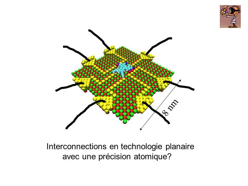 Interconnections en technologie planaire avec une précision atomique? 8 nm