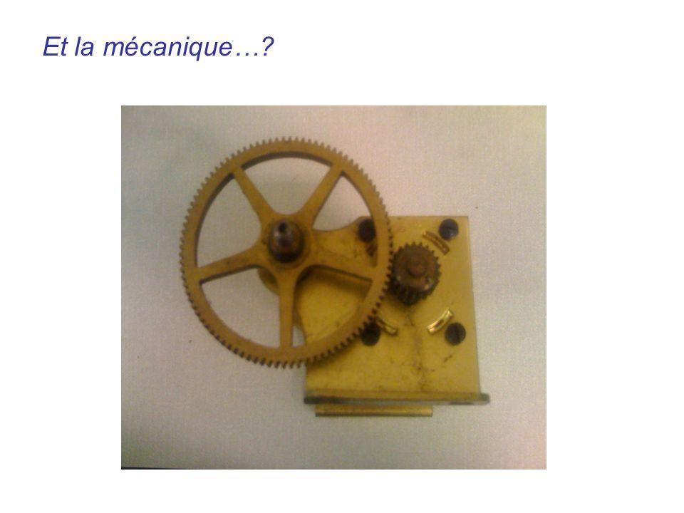 Engrenages? Et la mécanique…?