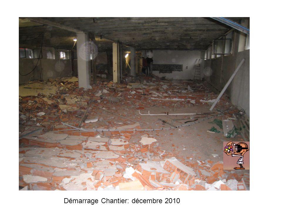 Démarrage Chantier: décembre 2010