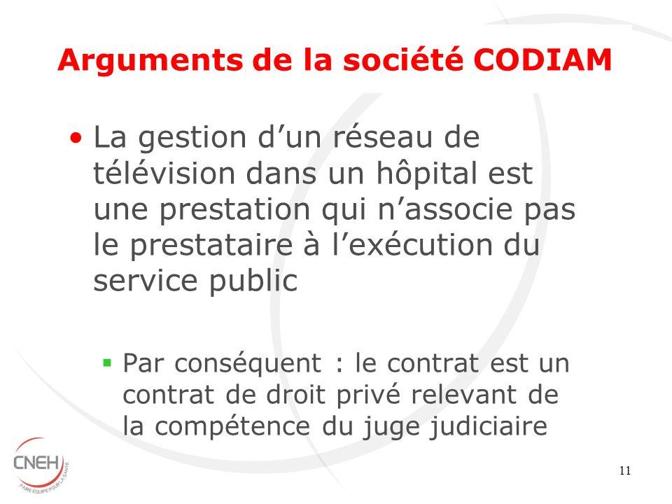 11 La gestion dun réseau de télévision dans un hôpital est une prestation qui nassocie pas le prestataire à lexécution du service public Par conséquen
