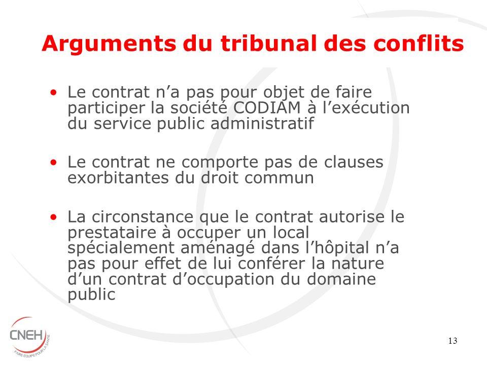 13 Le contrat na pas pour objet de faire participer la société CODIAM à lexécution du service public administratif Le contrat ne comporte pas de claus