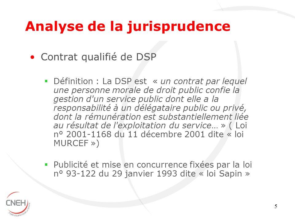 5 Contrat qualifié de DSP Définition : La DSP est « un contrat par lequel une personne morale de droit public confie la gestion d'un service public do