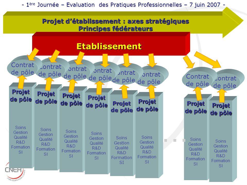 Contrat de pôle Contrat de pôle Contrat de pôle Contrat de pôle Projet Soins Gestion Qualité R&D Formation SI Projet de pôle Soins Gestion Qualité R&D