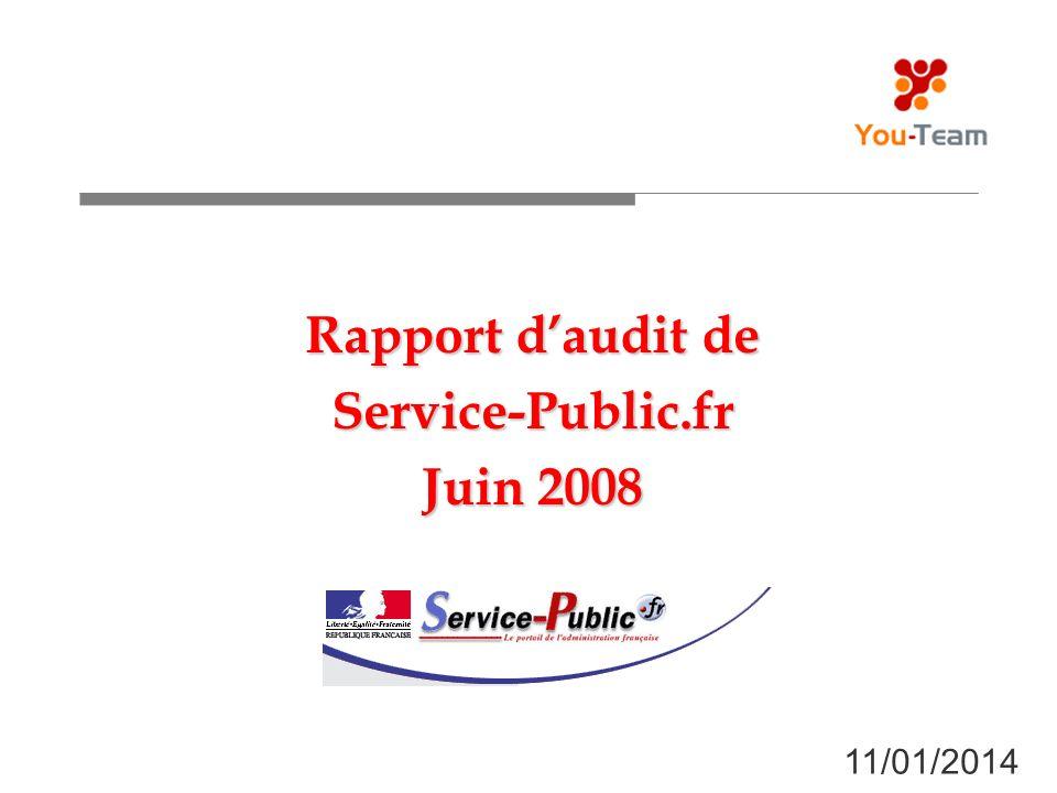 Rapport daudit de Service-Public.fr Juin 2008 11/01/2014