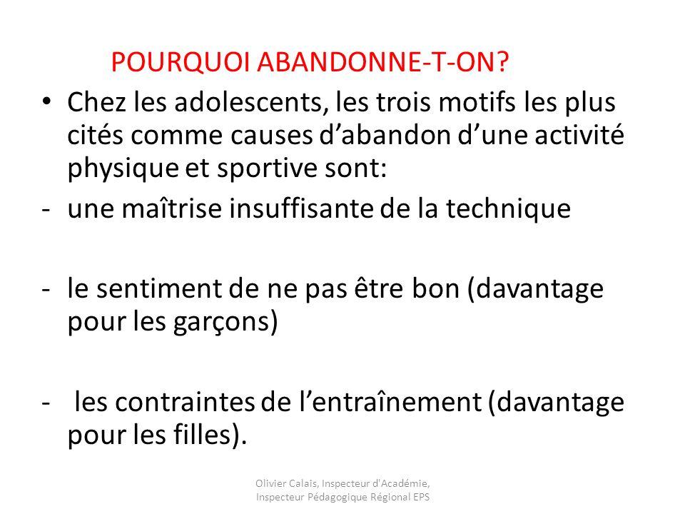 POURQUOI ABANDONNE-T-ON.