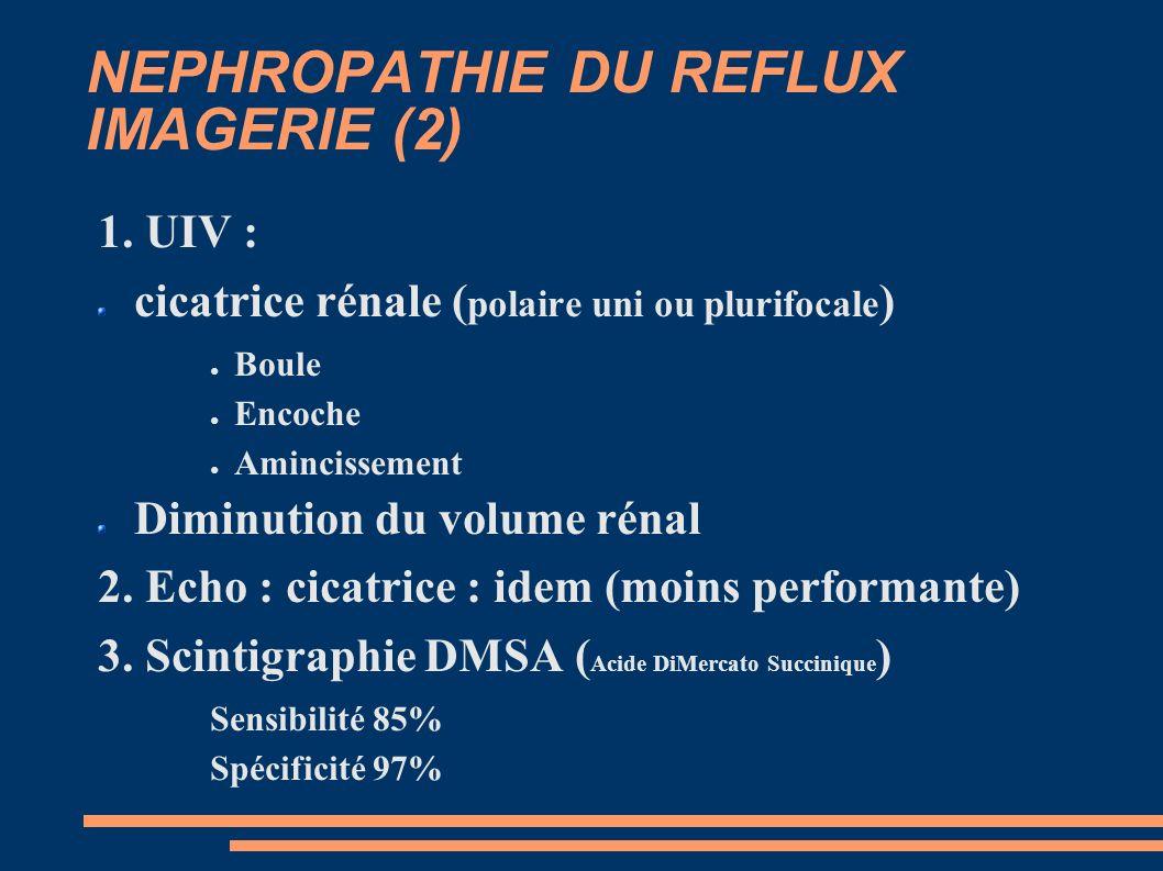 NEPHROPATHIE DU REFLUX IMAGERIE (2) 1.