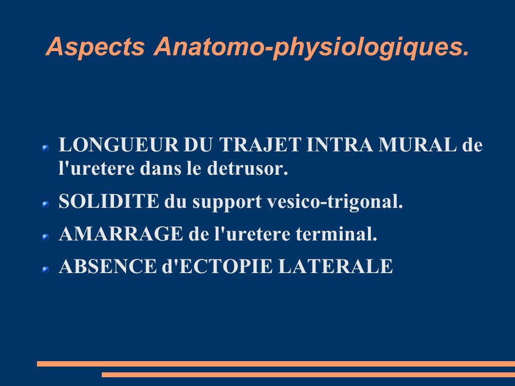 Aspects Anatomo-physiologiques.LONGUEUR DU TRAJET INTRA MURAL de l uretere dans le detrusor.