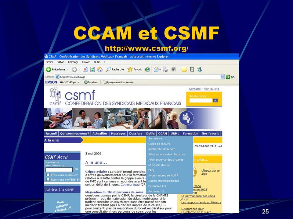 26 CCAM et FMF http://www.fmfpro.com/