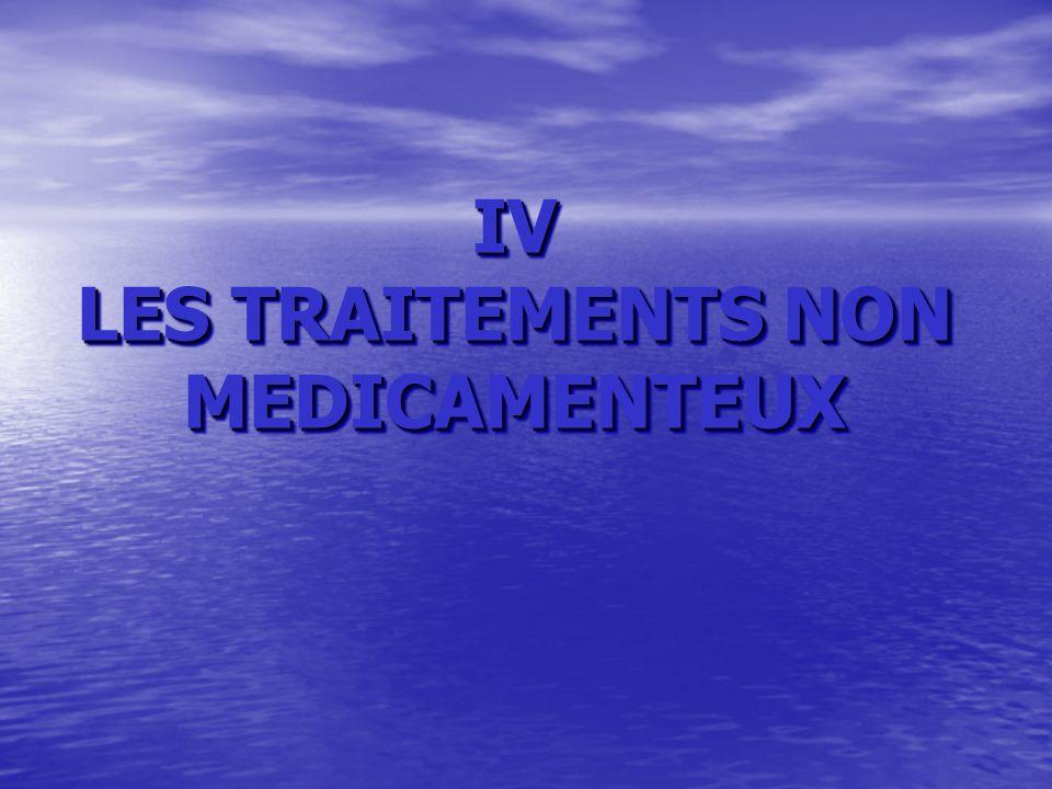 IV LES TRAITEMENTS NON MEDICAMENTEUX