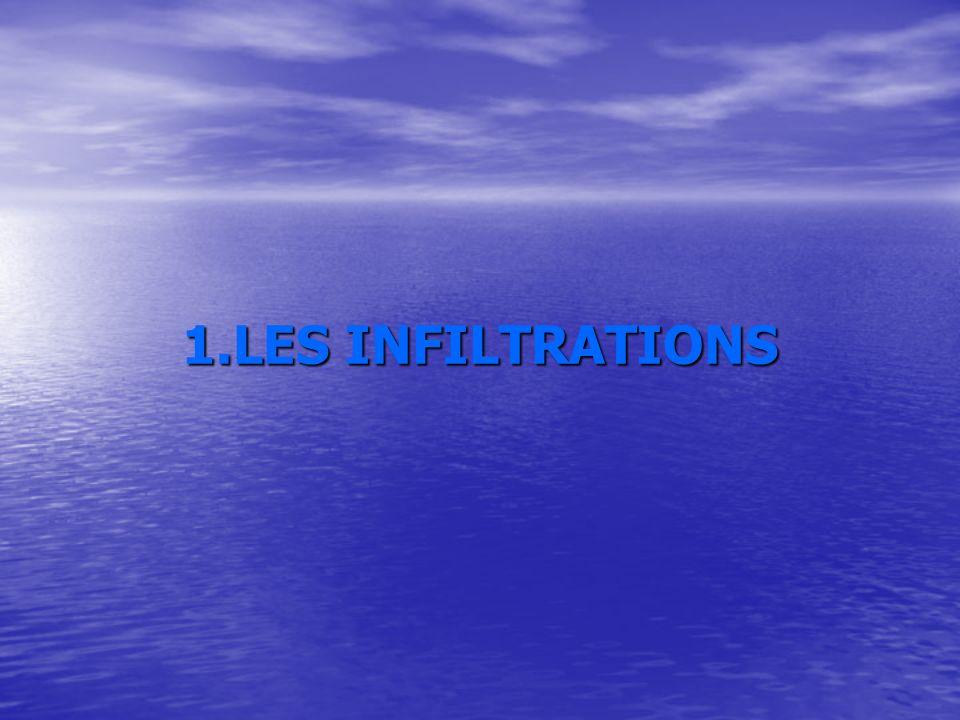 1.LES INFILTRATIONS