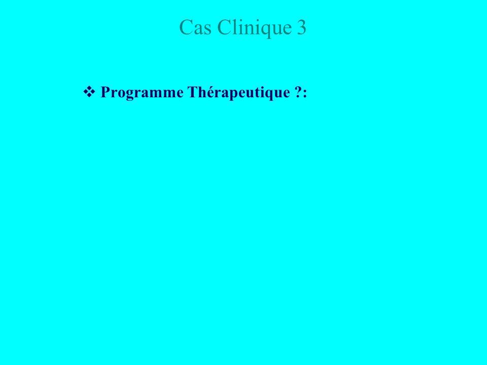 Cas Clinique 3 Programme Thérapeutique ?: