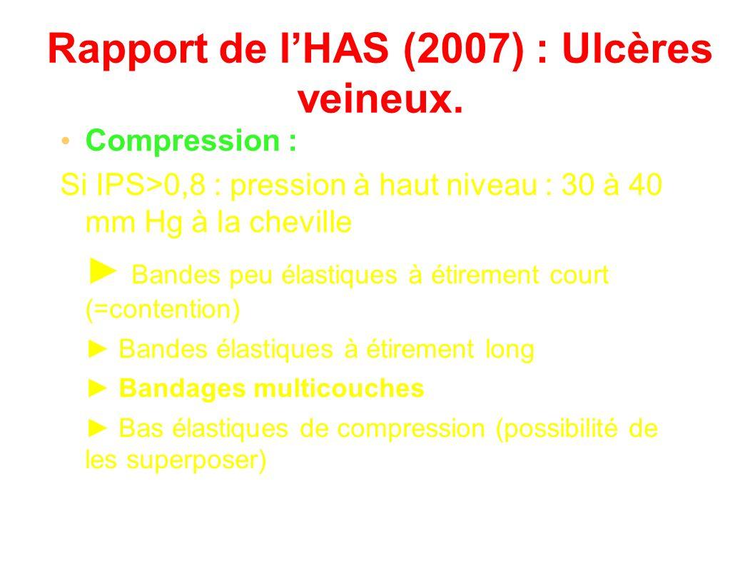 Rapport de lHAS (2007) : Ulcères veineux.
