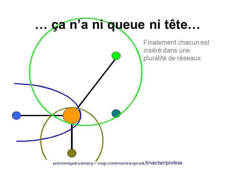 Dominique Lahary – http://membres.lycos.fr/vacher/profess … ça na ni queue ni tête… Finalement chacun est inséré dans une pluralité de réseaux