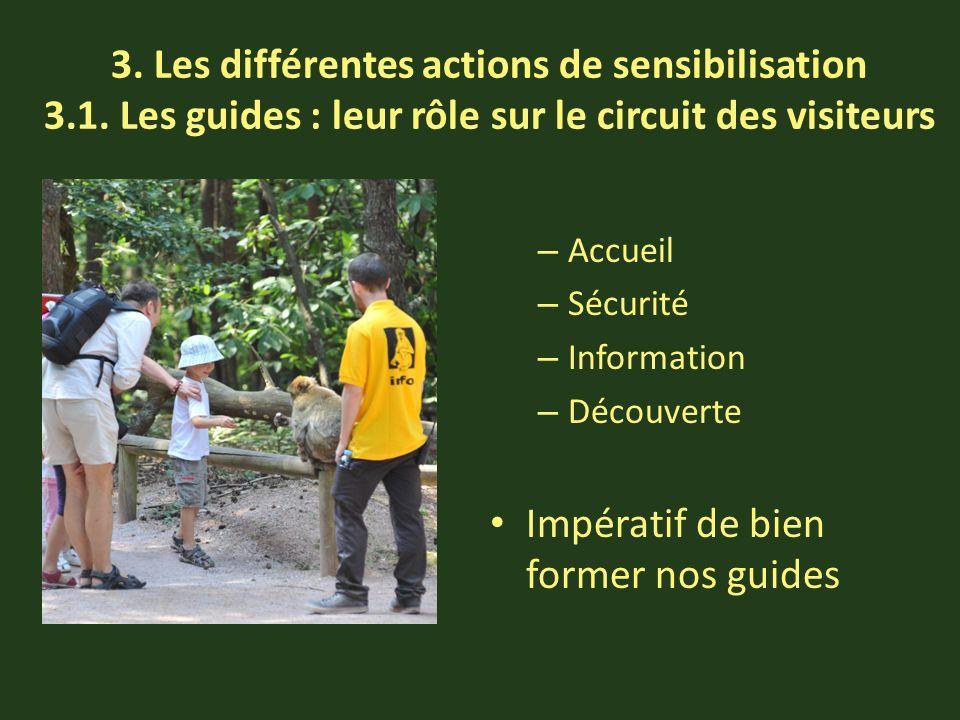 3. Les différentes actions de sensibilisation 3.1.