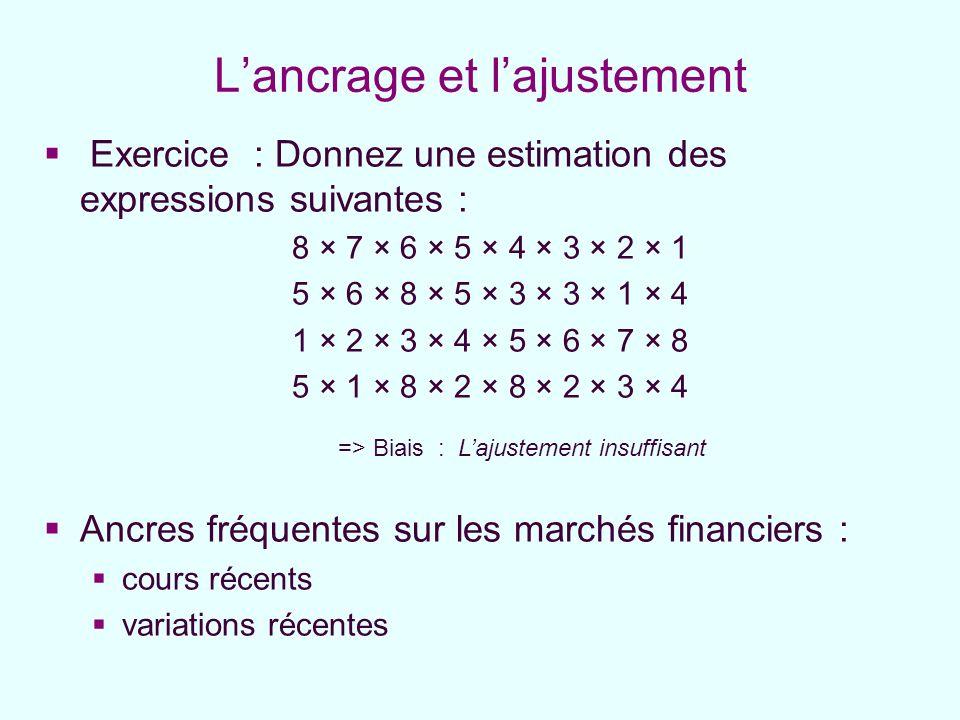 Exercice : Donnez une estimation des expressions suivantes : 8 × 7 × 6 × 5 × 4 × 3 × 2 × 1 5 × 6 × 8 × 5 × 3 × 3 × 1 × 4 1 × 2 × 3 × 4 × 5 × 6 × 7 × 8