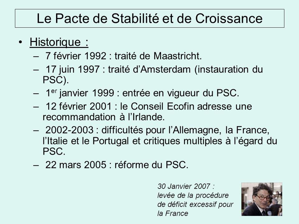 Historique : – 7 février 1992 : traité de Maastricht.