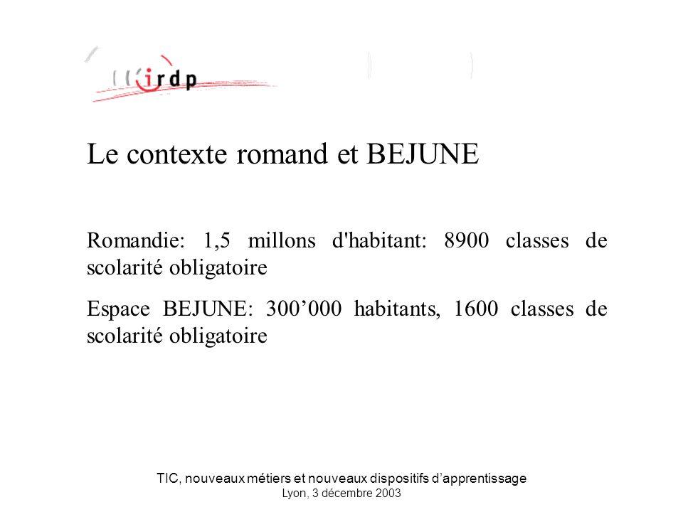 TIC, nouveaux métiers et nouveaux dispositifs dapprentissage Lyon, 3 décembre 2003 Approche instrumentale Contamines, J., George, S.
