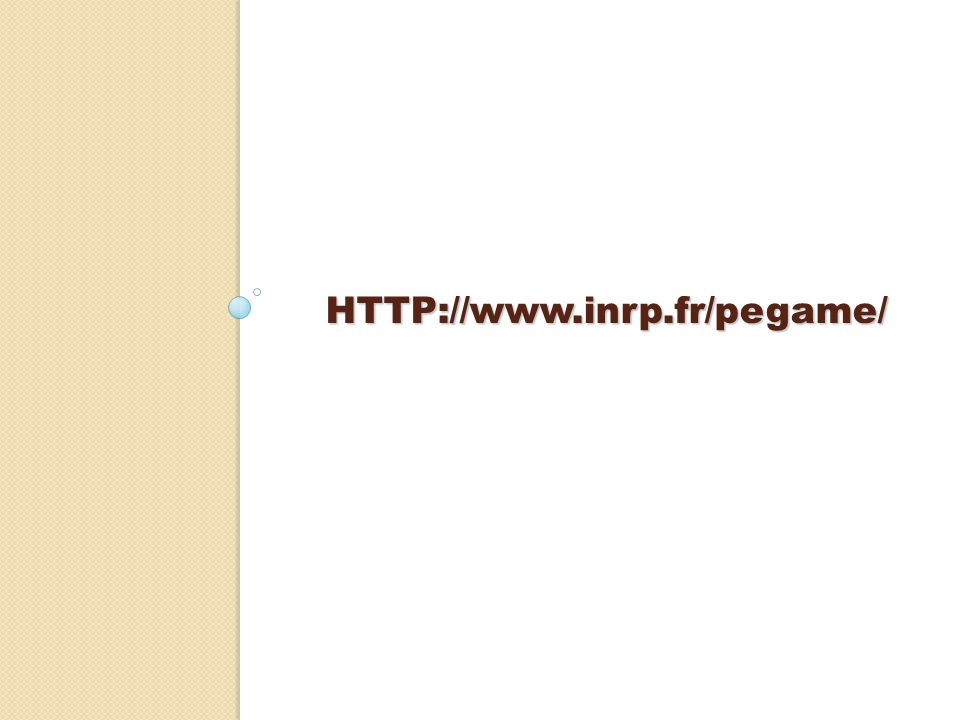 HTTP://www.inrp.fr/pegame/
