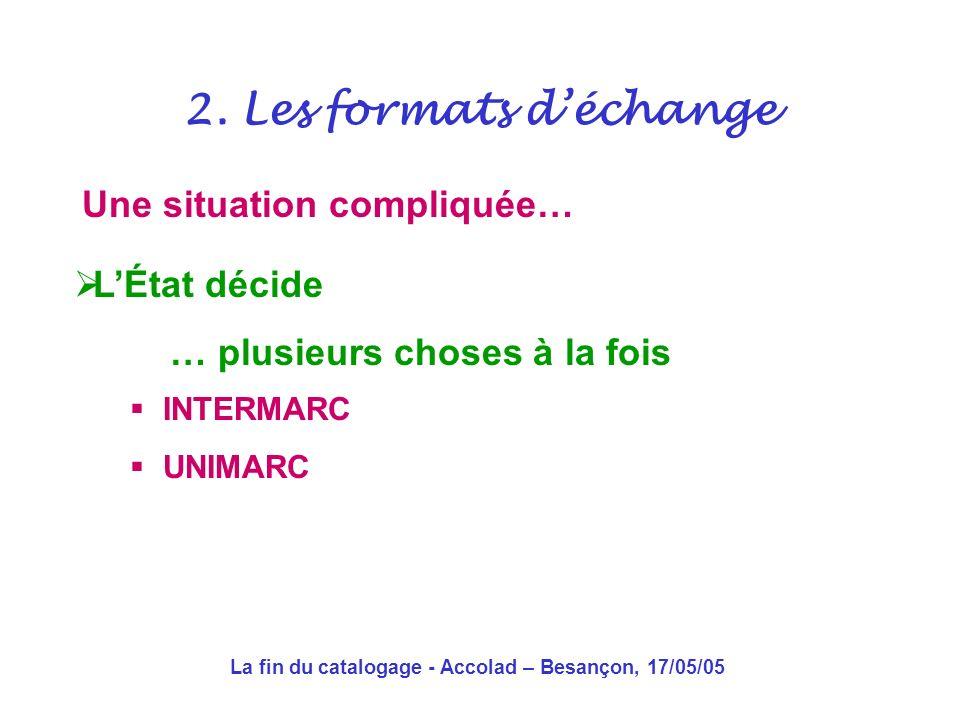 La fin du catalogage - Accolad – Besançon, 17/05/05 Et pourtant… En France, le cadavre se porte toujours comme un charme 2.