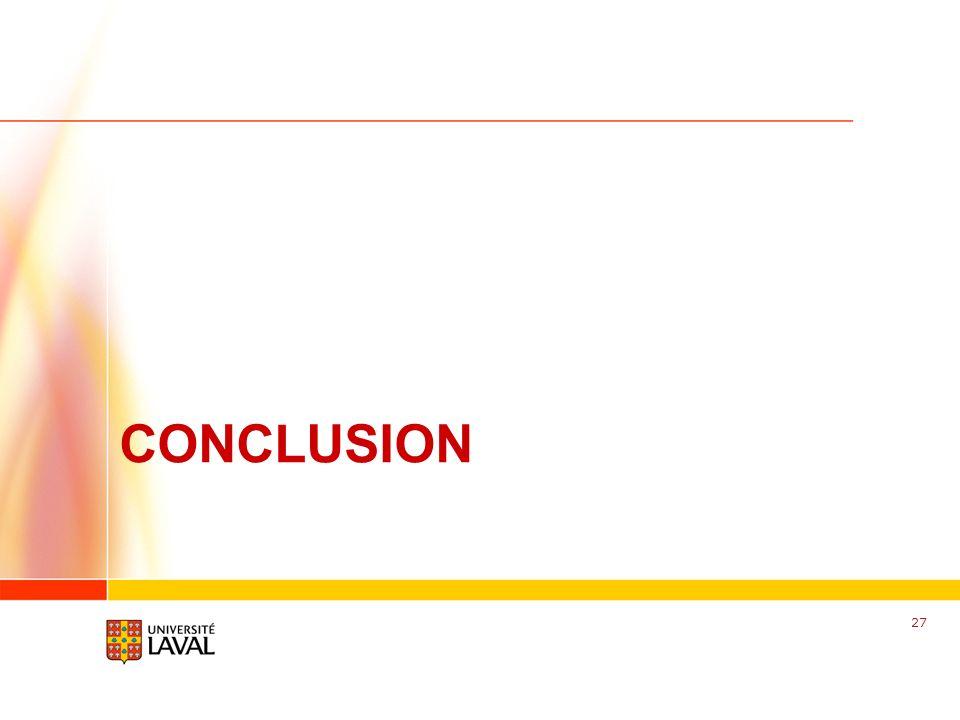 www.fsg.ulaval.ca CONCLUSION 27