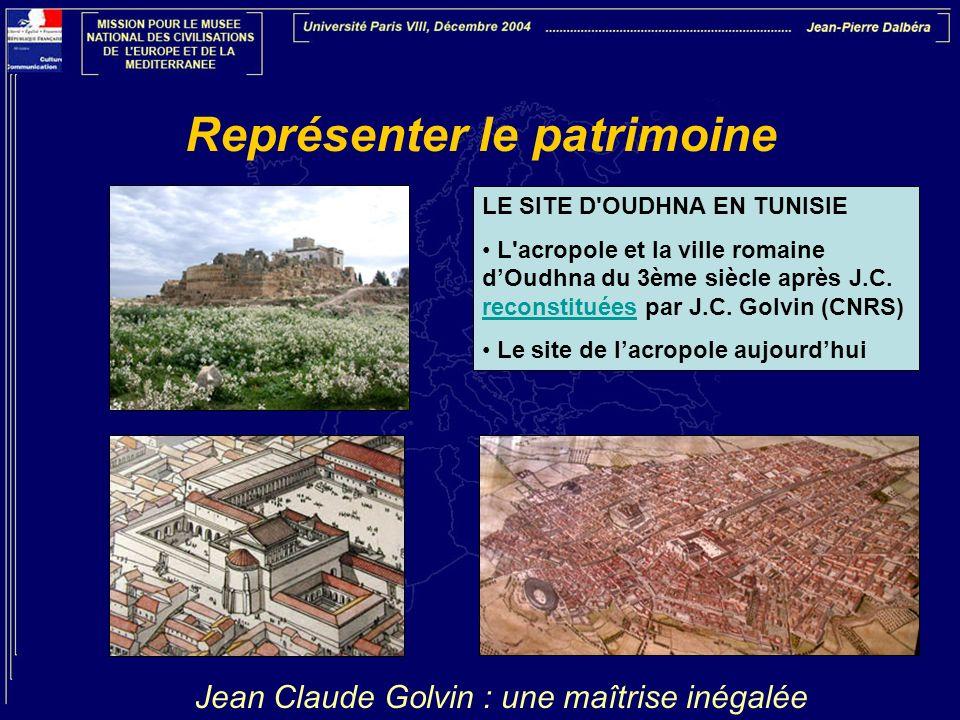 Représenter le patrimoine LE SITE D'OUDHNA EN TUNISIE L'acropole et la ville romaine dOudhna du 3ème siècle après J.C. reconstituées par J.C. Golvin (