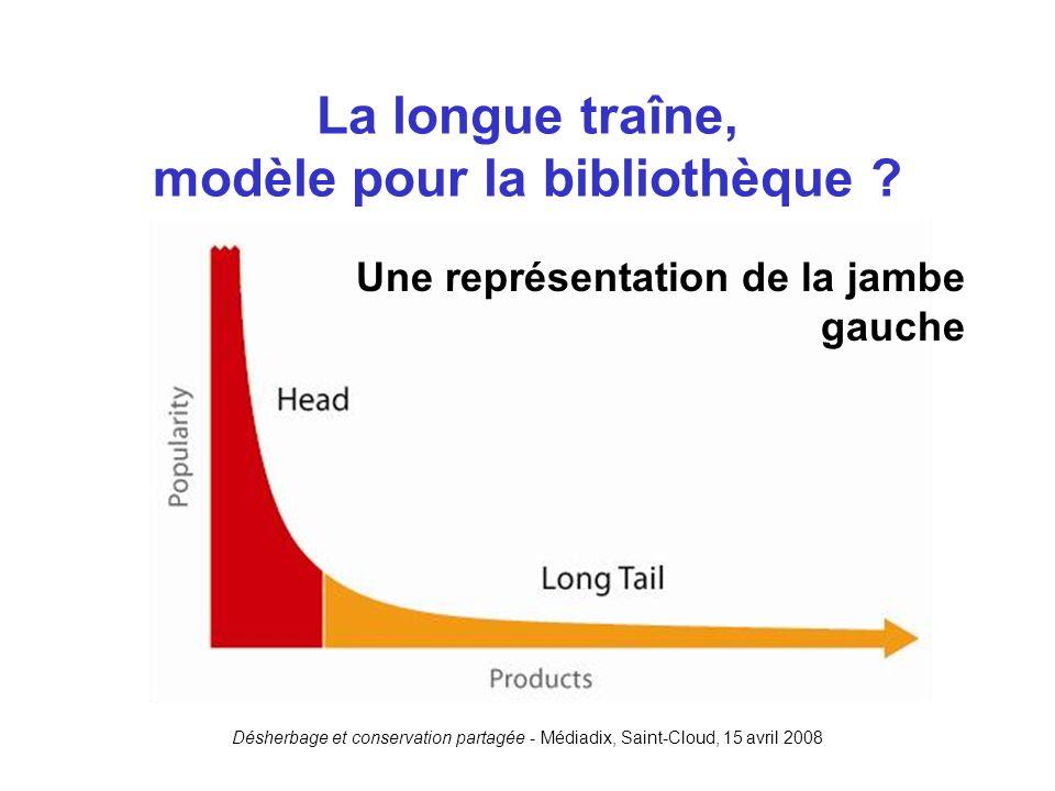 Désherbage et conservation partagée - Médiadix, Saint-Cloud, 15 avril 2008 La longue traîne, modèle pour la bibliothèque ? Une représentation de la ja